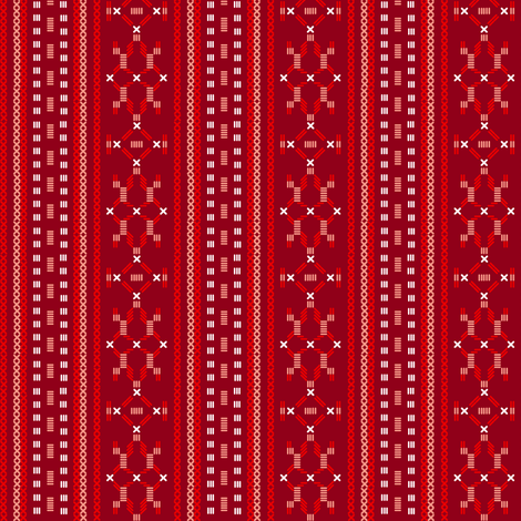 apron print in red