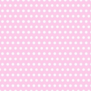 white pois on pink