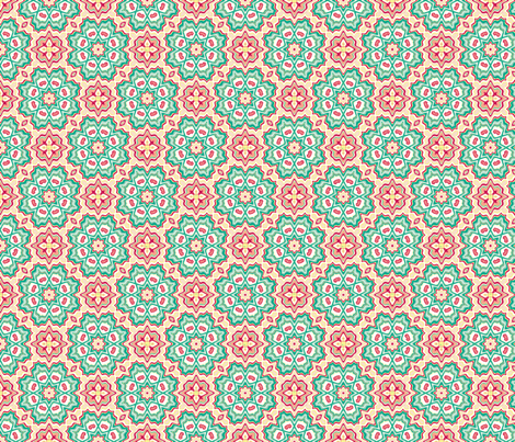 Power of the Flower fabric by kerryn on Spoonflower - custom fabric