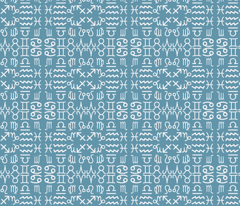 all together zodiac signs - dusty fabric by domoshar on Spoonflower - custom fabric