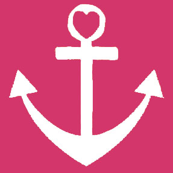 Heart Anchor Pink