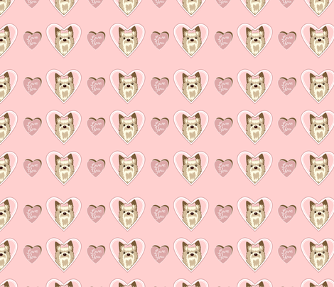 yorkie-love fabric by nitagale on Spoonflower - custom fabric