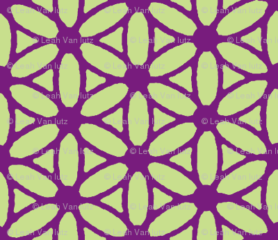 Flower of Life - Violet Lime
