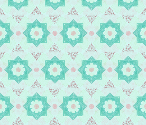 Arabesque  fabric by leahvanlutz on Spoonflower - custom fabric