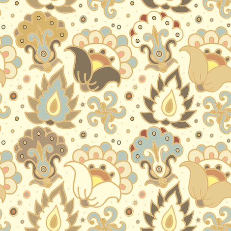 Azulejo design fabric by dariara on Spoonflower - custom fabric