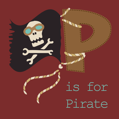 P is for Pirate fabric by phantomssiren on Spoonflower - custom fabric