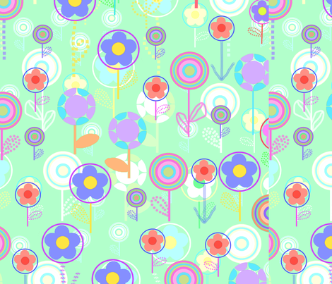 Overlayer Flowers fabric by tomhaggerty on Spoonflower - custom fabric