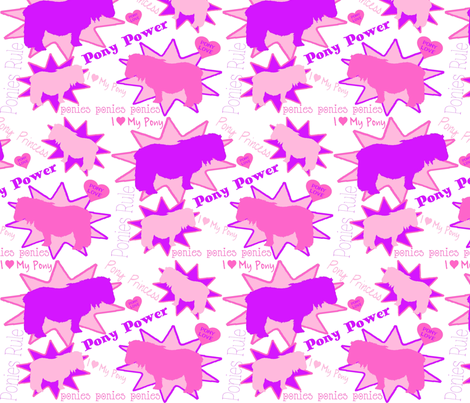 Pony Power fabric by ragan on Spoonflower - custom fabric