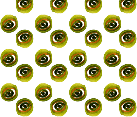 viv_evil green eye fabric by cest_la_viv on Spoonflower - custom fabric
