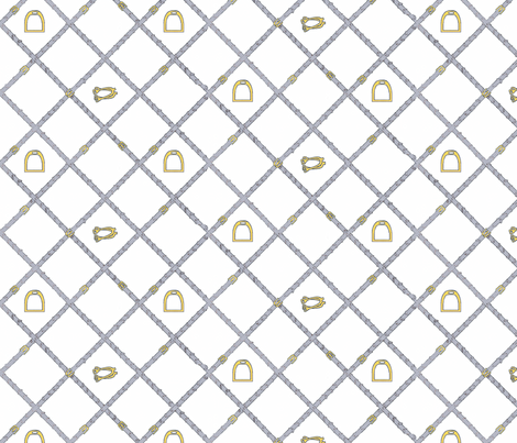 Reins in grey fabric by ragan on Spoonflower - custom fabric