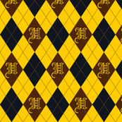 Hufflepuff Argyle Sateen