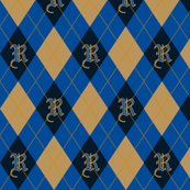 Ravenclaw Argyle Sateen
