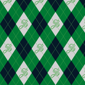 Slytherin Argyle Sateen