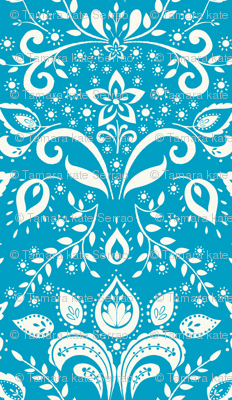 cream___teal_damask