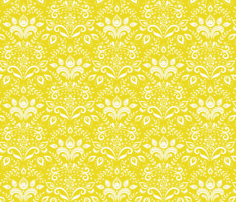 cream___yellow_damask fabric by kayajoy on Spoonflower - custom fabric