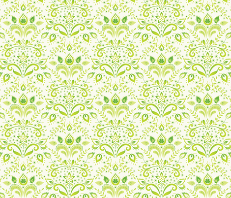 emerald_damask fabric by kayajoy on Spoonflower - custom fabric