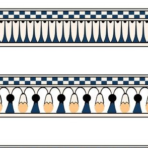 Egyptian Floral Stripe
