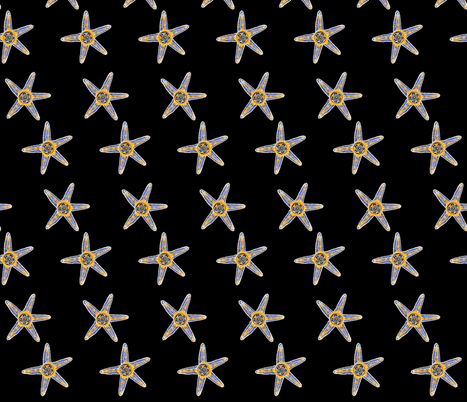 Asterias fabric by joancaronil on Spoonflower - custom fabric