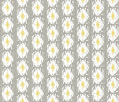 Driftwood Dream Grey/Citron fabric by lulabelle on Spoonflower - custom fabric