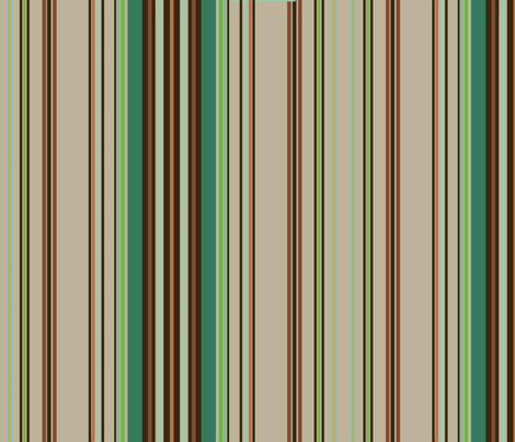 Paint by Number Woodland Ticking Stripe