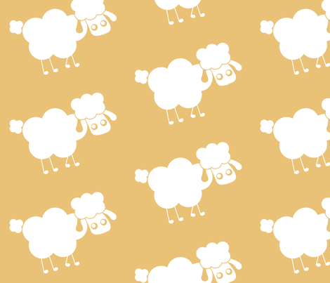 yellow sheep fabric by mayenedesign on Spoonflower - custom fabric