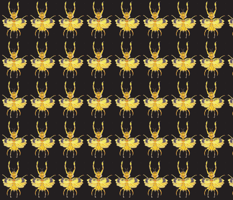Mantis Bug Dancing in the Dark fabric by bad_penny on Spoonflower - custom fabric