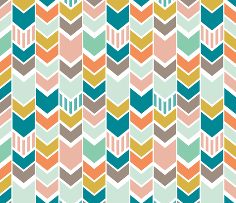 Wedding Chevron fabric by mrshervi on Spoonflower - custom fabric