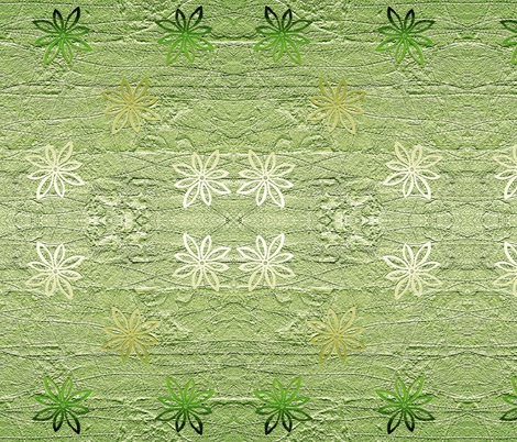 Subtle flowers on textured background - green fabric by martaharvey on Spoonflower - custom fabric