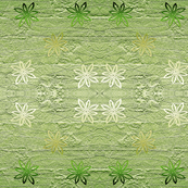 Subtle flowers on textured background - green