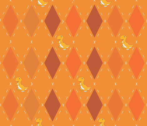 Dino Argyle fabric by illustrative_images on Spoonflower - custom fabric