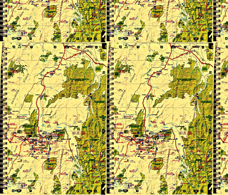 South Island Map Book fabric by toby_rose on Spoonflower - custom fabric