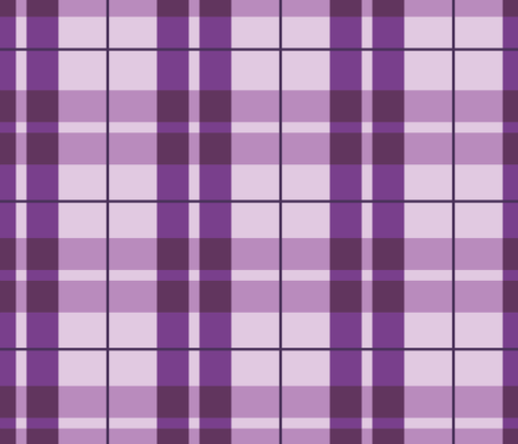 Purple Plaid fabric by illustrative_images on Spoonflower - custom fabric