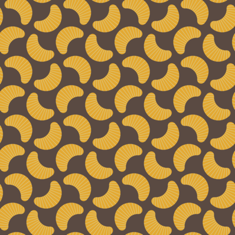 orange segments fabric by sef on Spoonflower - custom fabric
