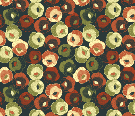 vintage floral fabric by kociara on Spoonflower - custom fabric