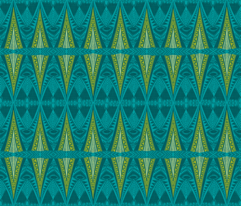 Tribal Pyjama fabric by spellstone on Spoonflower - custom fabric