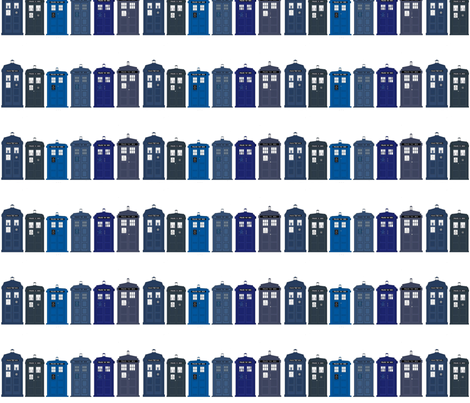 tardis large  fabric by plumcuckoo on Spoonflower - custom fabric