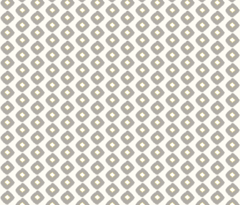 Ikat Square Grey/Citron fabric by lulabelle on Spoonflower - custom fabric