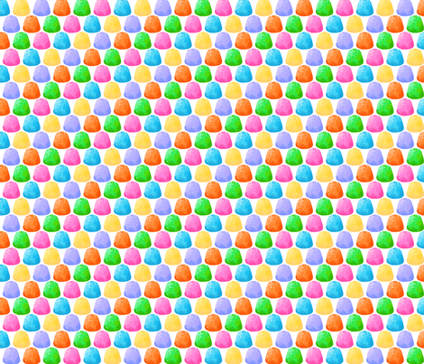 Gumdrops - 6 color fabric by siya on Spoonflower - custom fabric