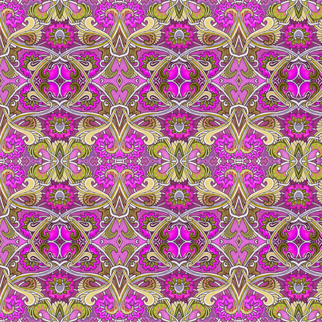 Raspberry Romance (an art nouveau abstract) fabric by edsel2084 on Spoonflower - custom fabric