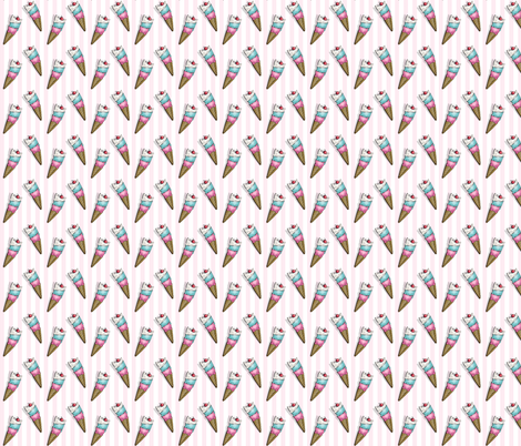Mini Ice Cream Cats fabric by miss_ella on Spoonflower - custom fabric