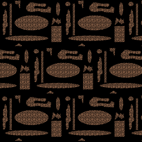 Random Leopard fabric by ravynscache on Spoonflower - custom fabric