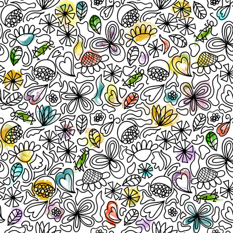 Chirp, chirp, chirp fabric by vo_aka_virginiao on Spoonflower - custom fabric