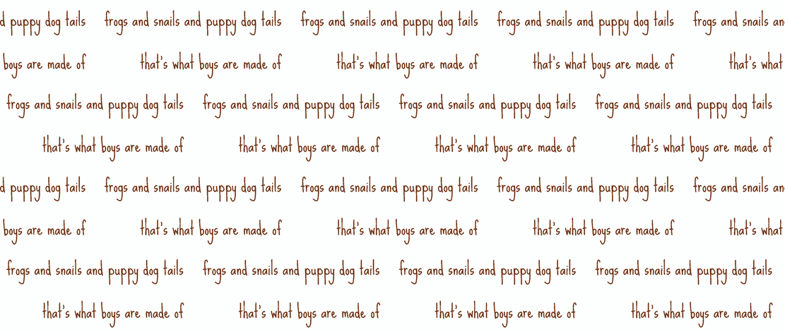 frogs and snails script in brown fabric by ali*b on Spoonflower - custom fabric