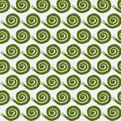 snails in green