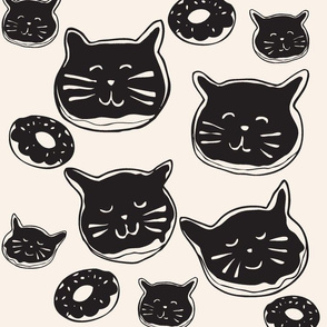 cat doughnuts - dark