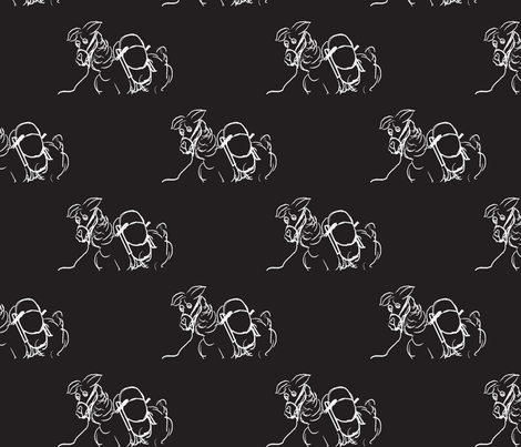 Chalkboard Llama fabric by luvinewe on Spoonflower - custom fabric