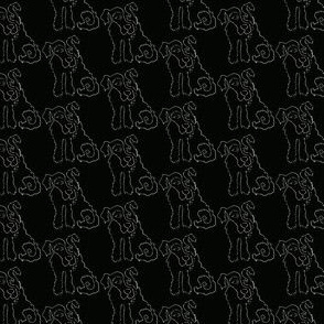 Chalkboard Line Dog