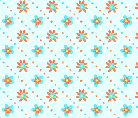 Flowers & Dots fabric by arttreedesigns on Spoonflower - custom fabric