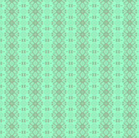 daisy chain mint fabric by kerryn on Spoonflower - custom fabric