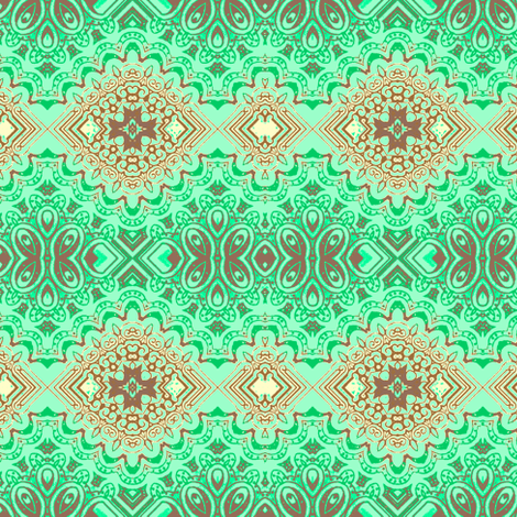 intrigue mint fabric by kerryn on Spoonflower - custom fabric